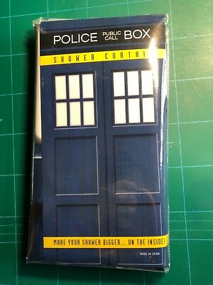 Dr Who Tardis Shower Curtain - Make your shower bigger (on the inside)