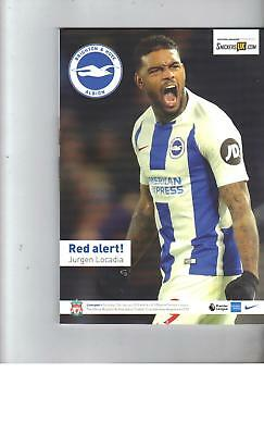 PROGRAMME - BRIGHTON & HOVE ALBION v LIVERPOOL - 12 JANUARY 2019