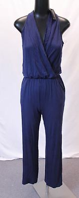 5d5e134967a9 Fashion Nova Women s Cop That Foreign Flared Leg S L Jumpsuit AB4 Navy Size  XS