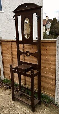 Antique Arts And Crafts Hall Stand - Restoration Project