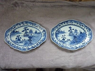Deux Anciens Plat Porcelaine Chine Old Chinese Porcelan Plate
