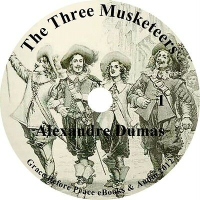 The Three Musketeers, Alexandre Dumas Audiobook Fiction English on 1 MP3 CD