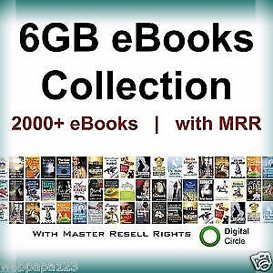 2000 eBooks Collection with(TOTAL 6 GB) +Famous Recipes +Free Shipping