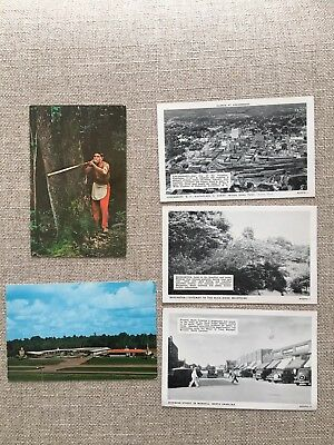 North Carolina Lot Of 5 Vintage Postcards From Various Locations
