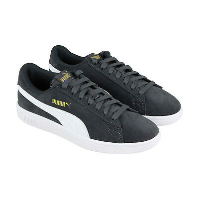 PUMA SMASH V2 Mens Gray Suede Lace Up Sneakers Shoes -  27.99  50433956e