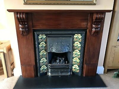 Victorian fire place And surround By gazco