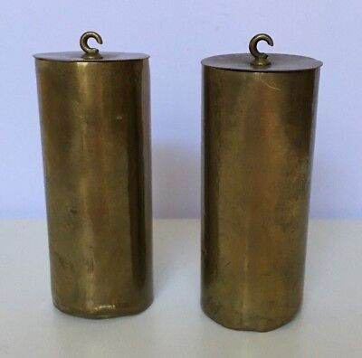 Antique 19th Century Pair of Vienna Regulator Clock Weights