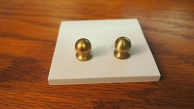antique hinge knobs, solid brass threaded