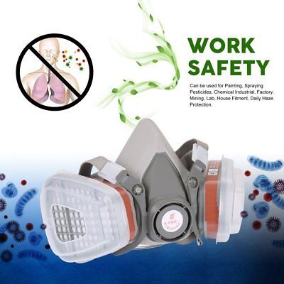 Half Face Mask Gas Respirator Filter For Painting Spraying Work Safety Mask BL