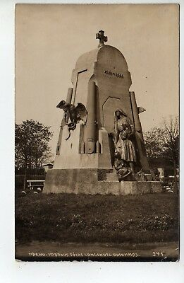 1933 Parnu Estonia RPPC, Huge Monument, Stamp, To USA