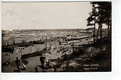 1931 Rigas Jurmala Latvia RPPC, Stamp, Sent To USA