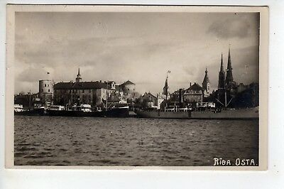 1931 Riga Latvia, Osta, RPPC, Stamp, Sent To Long Island New York, Message