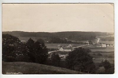 1927 Latvia, Rural Scene RPPC, Stamp