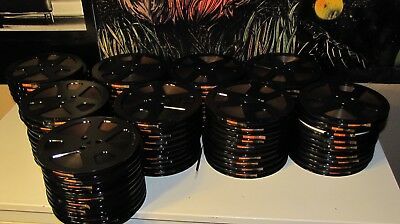 """7"""" Music Reel Tapes, Used Condition  (10) per Lot Sale Black Plastic Reel"""