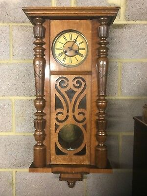 antique large heavy vienna wall clock