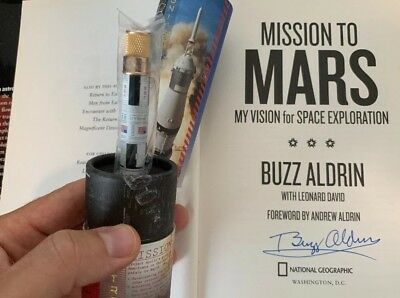 Buzz Aldrin 1st Ed/3rd State Signed Hardcover Copy Mission To Mars Apollo 11 htf