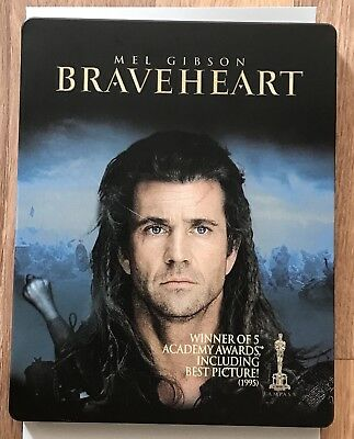 Braveheart Steelbook Blu Ray 2 disc Mel Gibson Region 1 Canada Read description