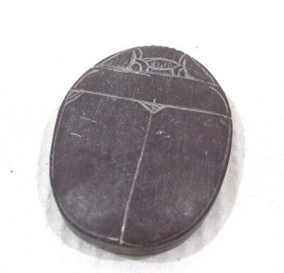 "Rare Ancient Egypt Egyptian antique Scarab Date Unkown 1 1/4"" Long, Heartstone"