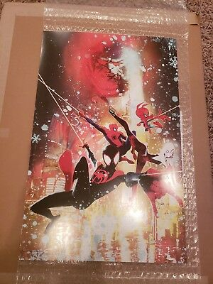 "SPIDER-MAN: INTO THE SPIDERVERSE 11""x17"" LITHOGRAPH Sienkiewicz ART POSTER FLAT"