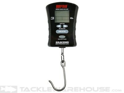 Rapala 50 Lb. Pound Fish Fishing Compact Touch Screen Scale W/ Hook RCTDS50