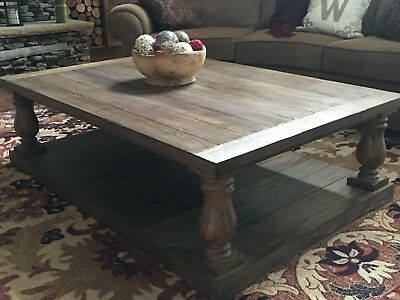 Wood Coffee Table Rustic Living Room Tables Large With