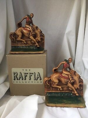 The Raffia Collection Cowboy Bookends