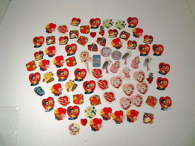 Vintage Lot Of Valentine Stickers *Hearts* Babies *Storks* Scrapbooking Variety