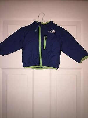 777557852 THE NORTH FACE Infant Reversible Perrito Jacket Size 3-6M