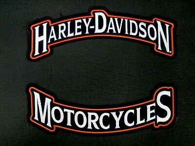 "Harley Davidson Motorcycles Large Rocker Patch 12"" ""Ships International"""