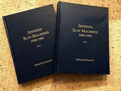 Jennings Slot Machines Books Part 1 and 2 by Dick Bueschel 1906 to 1990