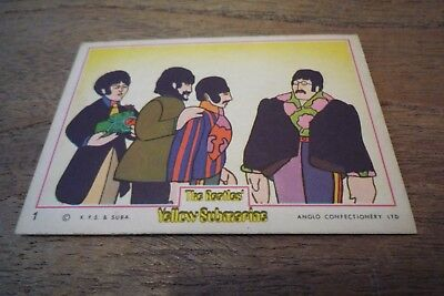 Anglo The Beatles Yellow Submarine Card Number 1 - VGC! From 1968