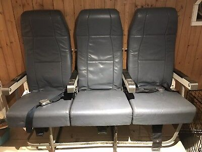 Airbus Aircraft Seat with Seatbelts and Trays Very Good Condition