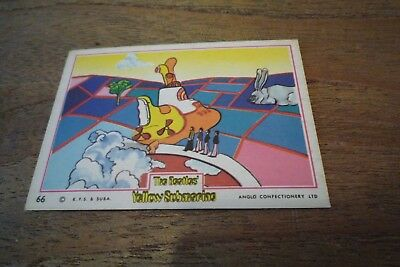 Anglo The Beatles Yellow Submarine Card Number 66 - VGC - 1968! Rare Last Card