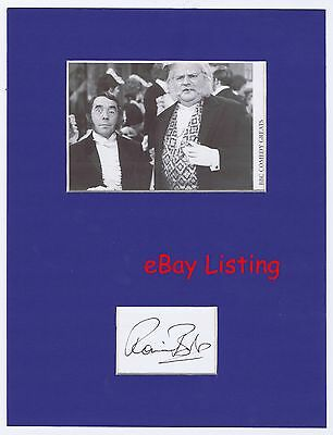 Ronnie Barker  Hand Signed  Blue Matted Display  Open All Hours and Porridge