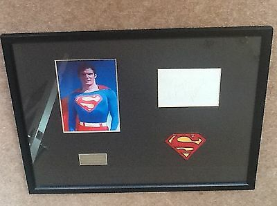 Christopher Reeve  Genuine Hand Signed Mounted Framed Display Superman Very Rare