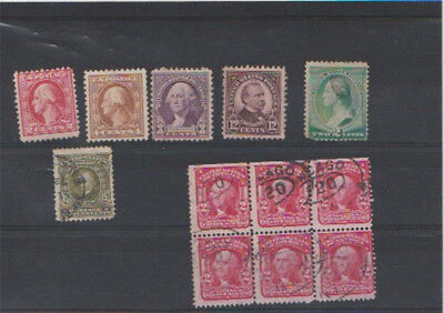 Selection of early USA stamps. Mint and Used.