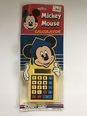 7341f6014ccd1 Vintage Mickey Mouse Calculator Concept 2000 Model WD-1011 DISNEY   NEW  Unopened