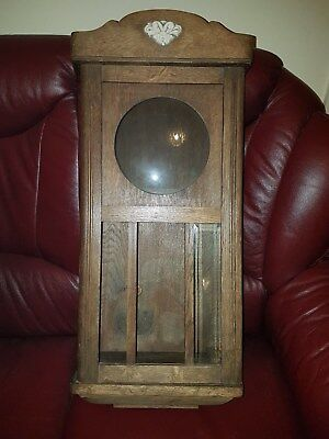 antique wall clock case