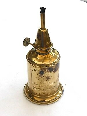 Vintage French Brass Pigeon Lampe Feutree Abeille Oil Lamp   1420621/626