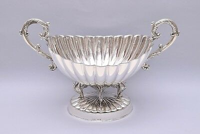 BEAUTIFUL AND LARGE SOLID SILVER CENTERPIECE. LENGTH: 36CM / 14 in