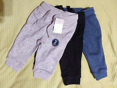 New With Tags Pack of 3 X Boys Next Jogging Bottoms. Size 6-9 Months