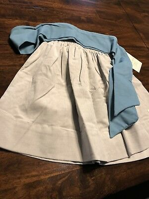NWT Persnickety Gray Hattie Skirt Fall Winter Size 7 With Blue Sash