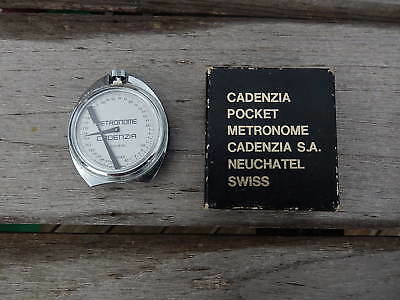 Rare Old Swiss Pocket Cadenzia Metronome Neuchatel With Original Box