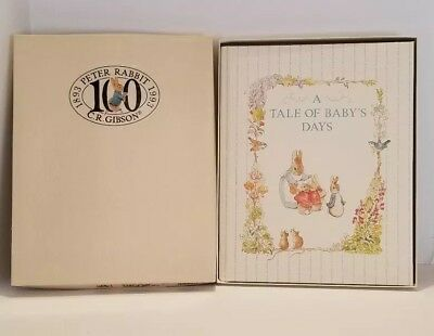 C.R. Gibson Beatrix Potter Memory Book Baby A Tale of Baby's Days Peter Rabbit