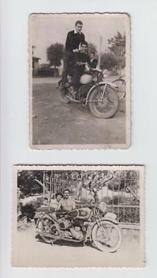 Greece Sounio 2 Small Greek Photos With Old Motorcycles Bsa 1954