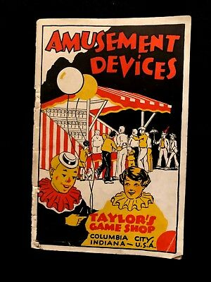 Carnival and Arcade Catalogue from 1930 ORIGINAL