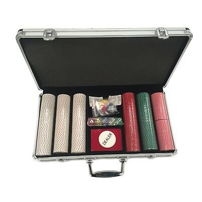 All-In 300-piece Clay Poker Chip Set with Carrying Case