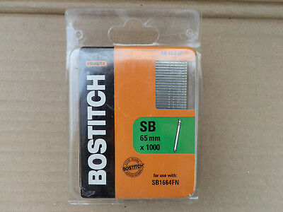 Stanley Bostitch 65mm x 1.6mm 16GA Galvanised Finish Nails 1000pcs