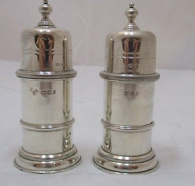 Superb Pair Elizabeth II sterling silver Salt and Pepper, 1963, 328 grams