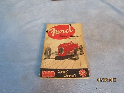 Vintage auto Ford Clymer Book Ford Speed Manual1952 Vintage Auto